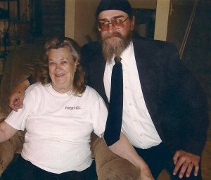 My great-uncle (1955-2012) with his mother, my great-grandmother (Granny)